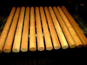 "TWELVE (12) ROUND DOWEL KILN DRIED CHERRY WOOD LUMBER 12"" X 15/16"" DIAMETER"