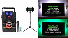 Technical Pro Wasp420 Bluetooth Karaoke Machine System w/Tv Led's + Mic + Stand