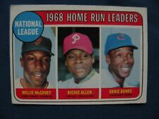 1969 Topps 1968 Home Run Leaders McCovey, Allen & Banks  #6 $1 S&H MLB baseball