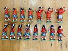 15 X Vintage 1970's Britains Scots Guards Figures Bagpipes Drummers Soldiers