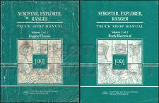 1991 Aerostar Ranger Explorer Shop Manual Set 91 Ford Reparatur-Service Bücher