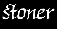 """3"""" Stoner Weed Sticker Marijuana Pot Grass Smoking White Glossy Vinyl Decal"""