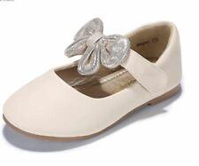 Girls Toddler Shoes Size 5 Beige Pandaninja School Uniform Mary Jane Dress Flats