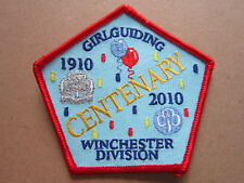Winchester Division Guiding Centenary Girl Guides Cloth Patch Badge (L3K)