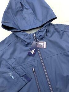 Johnnie-O Reece Windbreaker Hooded Full Zip Jacket Coat Blue Mens Size XL $295