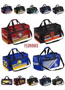 NFL Team Gym Travel Luggage Striped Core Duffel Bag