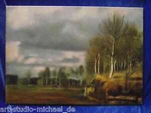 """Norddeutsche Künstler: Peter van Beeck """"Moorlandschaft bei Worpswede"""" 1987"""
