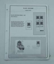 New Brookman Stamp Album Pages 1991-92 US Supplement Black Heritage