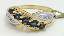 GENUINE 0.85 Carats BLUE SAPPHIRE & DIAMONDS 14k Gold RING *FREE APPRAISAL*