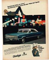 1967 Dodge Coronet 440 Blue 2-door Girl Tied Up Bondage Automobile Vtg Print Ad