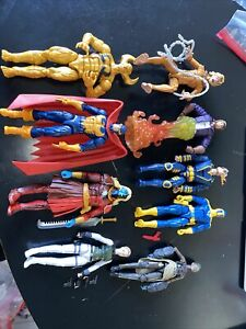 MARVEL LEGENDS Loose 9 Figure Lot X-Men AVENGERS Gotg BLACK PANTHER aoa Complete