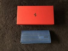 Ferrari Genuine Blue Leather Sunglass Case 270038015 NEW NIB OEM GIFT