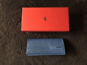 Ferrari Genuine Blue Leather Sunglass Case 270038015 NEW NIB OEM GIFT