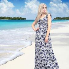 V-Neck Summer/Beach Paisley Dresses for Women