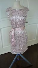 Venus Sequin Dress size 10 Blush Pink Cap Sleeves New w/o tag sequins attached