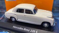 Mercedes Benz 220S White 1956 MINICHAMPS 1:43 940033000 Model