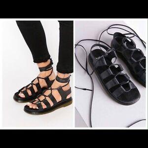 Dr Martens Kristina Black Sandals Size US 8/UK 6