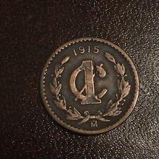 1915 Mexico Un Centavo Large Size