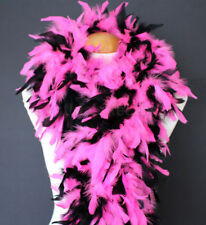 Hot Pink/Black mix 100 Gram Chandelle Feather Boa Dance Party Halloween Costume