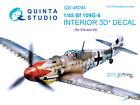 Quinta's QD48094 1/48 Bf 109G-6 3D-Printed coloured Interior for Eduard kit
