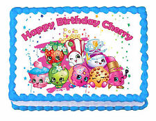 "Shopkins party edible cake image cake topper frosting sheet   -7.5""x10"""