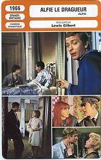 Movie Card. Fiche Cinéma. Alfie le dragueur (Grande-Bretagne) Lewis Gilbert 1966