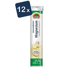 Sunlife Magnesium Brausetabletten 12x 20 Stück Sparpack