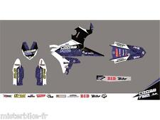 Kit déco CROSS FIRE bleu KUTVEK Yamaha YZ85