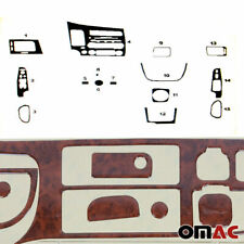 Wooden Design Dashboard Console Trim Cover Kit 15 Pcs For Honda Civic 2006-2011