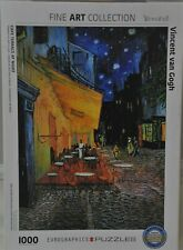 "Eurographics 1000 Piece Complete Puzzle Vincent van Gogh ""Cafe Terrace At Night"""
