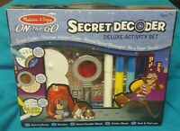 New! Melissa and Doug Secret Decoder Deluxe Activity Set On The Go Kids Toy Game
