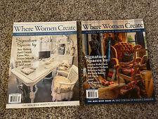 Where Women Create May/Jun/July 2014 & Aug/Sept/Oct 2014 Magazines. Brand New!