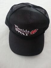 State of Florida SWAT Hat SnapBack Trucker Mesh Cap  black w/ nylon cord