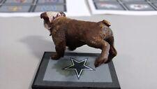 Gag Display Custom Peeing British Bulldog , Any Picture On Floor Mat.