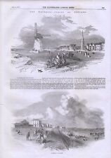 1856 LANCASHIRE  LYTHAM SOUTHPORT WATERING PLACES SPA WINDMILL