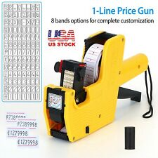 New Mx-5500 8 Digits Eos Price Tag Gun +50 White w/ Red Lines Labels + 1 Ink