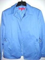 Ann Klein Women's Petite Size 10P Blue Jacket Coat Blazer Open Front