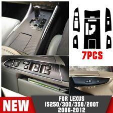 Carbon Fiber Gear Shift Box Panel Cover Trim For Lexus Is250 300 350 2012-2006 (Fits: Lexus)