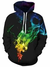 Skull 3D Design Unisex Mens Womens Hoodie Hoody Small Size Only
