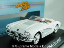 CHEVROLET Corvette modellino auto scala 1:43 White American Graffiti Motormax 1958 K8