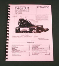"Kenwood TM-241 Service Manual: w/11X28"" Foldout Schematic & Protective Covers"