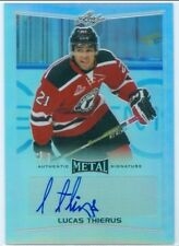 "LUCAS THIERUS ""AUTOGRAPH CARD"" LEAF METAL DRAFT HOCKEY 2016 QUEBEC RAMPARTS"