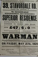 More details for highbury drayton park 34 stavordale road house 1921 annie mitchell poster e3.305