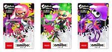 Amiibo Splatoon Boy Girl Squid ink Neon Green Pink Purple Set  Japan New