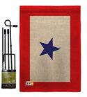Blue Star Burlap Garden Flag Service Armed Forces Gift Yard House Banner