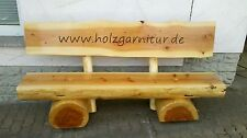 Massive Holzgarnitur,Sitzgruppe,Gartengarnitur,Rustikal, neu,Gartenbank,Sitzbank