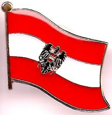 Lot Of 3 Austria with Eagle Flag Lapel Pins - Austrian w/Eagle Flag Pin