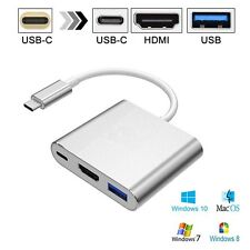 USB 3.1 Type-C to 4k HD HDMI USB 3.0 HUB USB-C Charging Port Adapter Cable 3in1