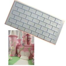 Brick Wall Impression Emboss Mat Cutter Fondant Sugarcraft Cake Decorating