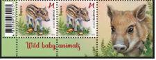 Belarus 2021 Wild baby animals deer squirrel beaver pig 8 stamps